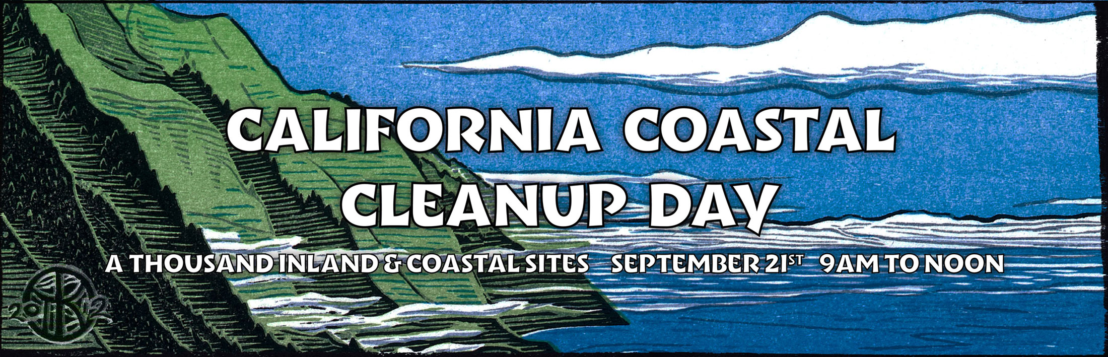 California Coastal Cleanup Day is September 15, 2018, 9am-noon